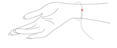 Obvod zápästia